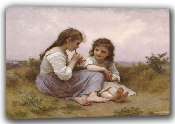 Bouguereau, William-Adolphe: A Childhood Idyll. Fine Art Canvas. Sizes: A4/A3/A2/A1 (001621)